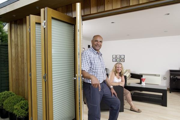 Opening 12ft Prestige Oak Bifolding Doors