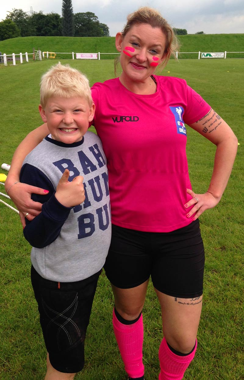 Event organiser Amanda and Son Hayden
