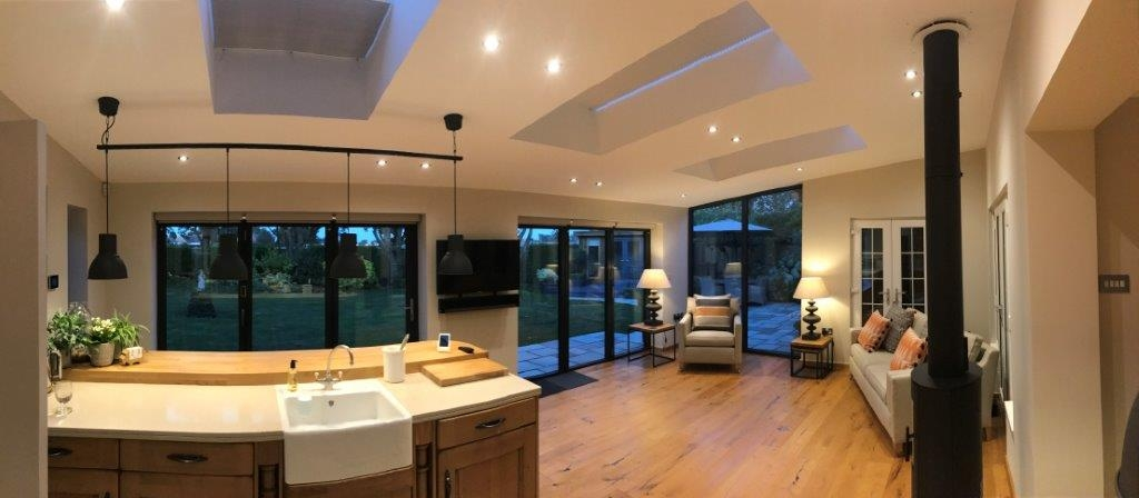Inside view of Status Aluminium bifold doors and windows
