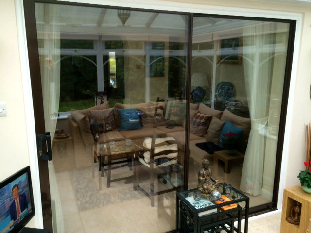 Before image of the Old-fashioned Patio Sliding Doors
