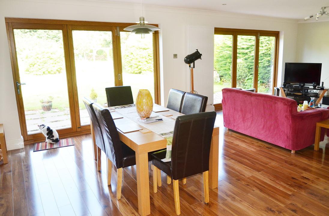 <p><img title=Elite 9ft Bifold Doors enhance bungalow
