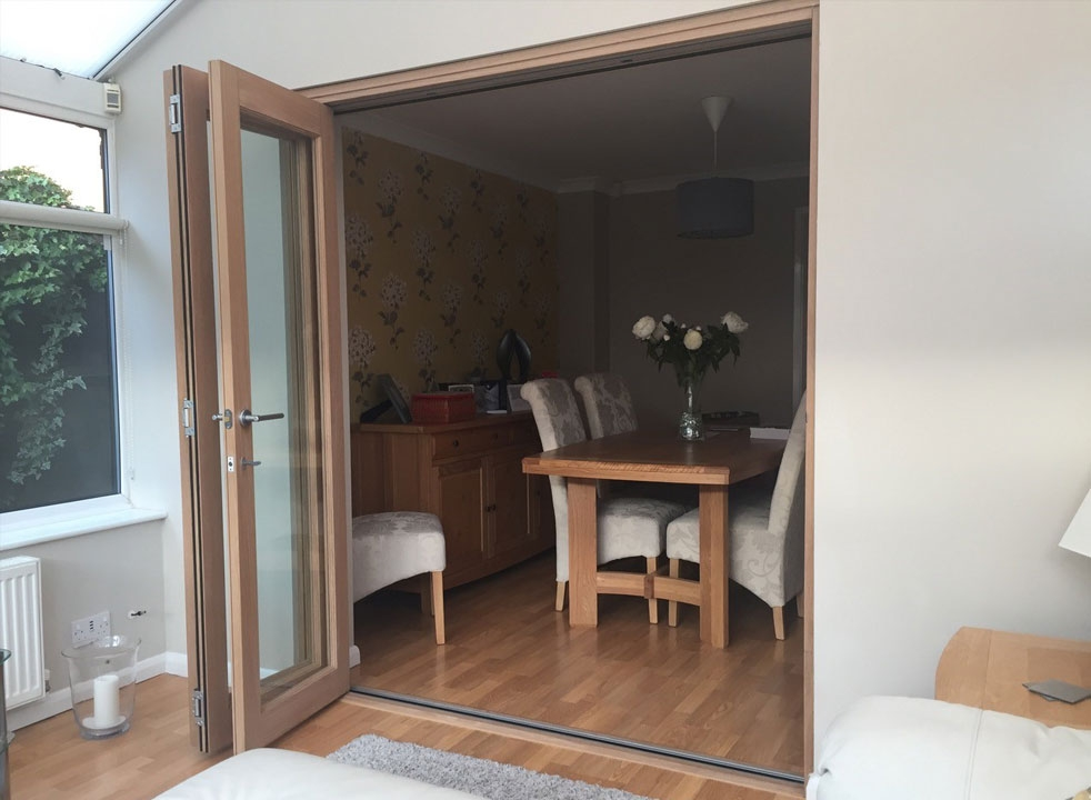 Fully open Finesse 1.8M Internal bifold doors