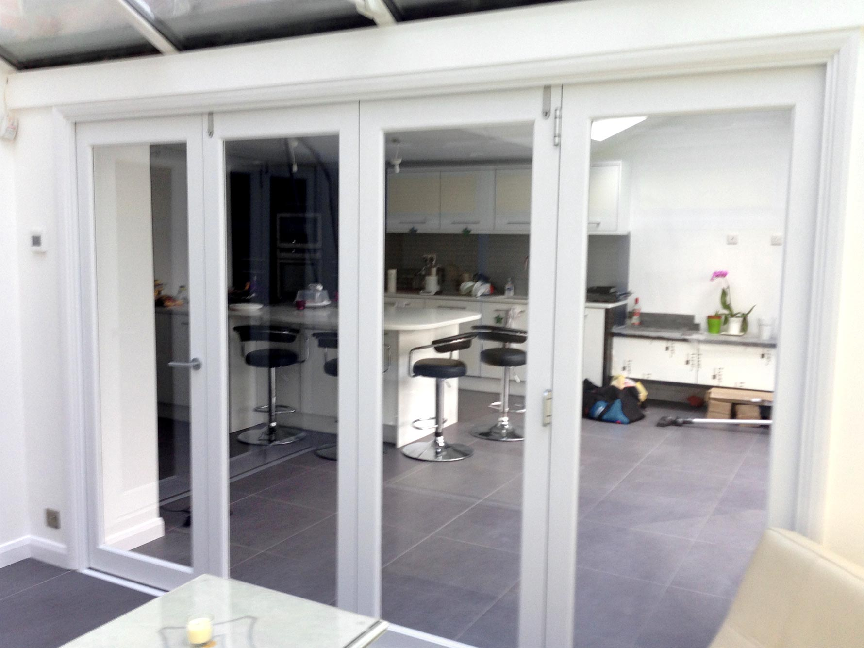News finesse doors installed to separate the - Doors to separate kitchen from living room ...
