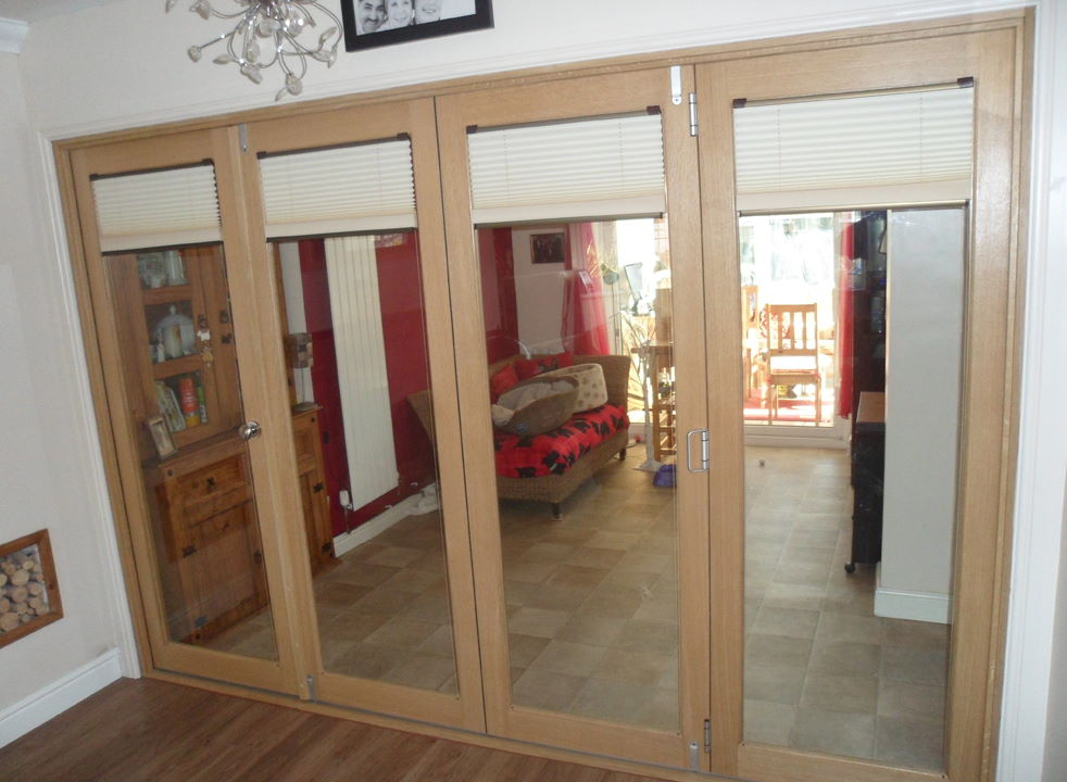 Fully Closed Finesse 3M Internal Bifold Doors