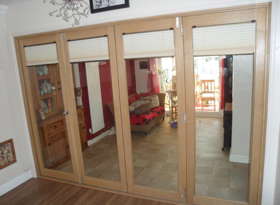 Fully Closed Finesse 3M Internal Bifold Doors