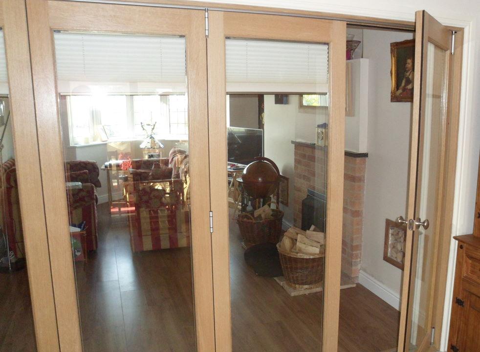 Access Door Open on a Finesse 3M Internal Bifold Doors