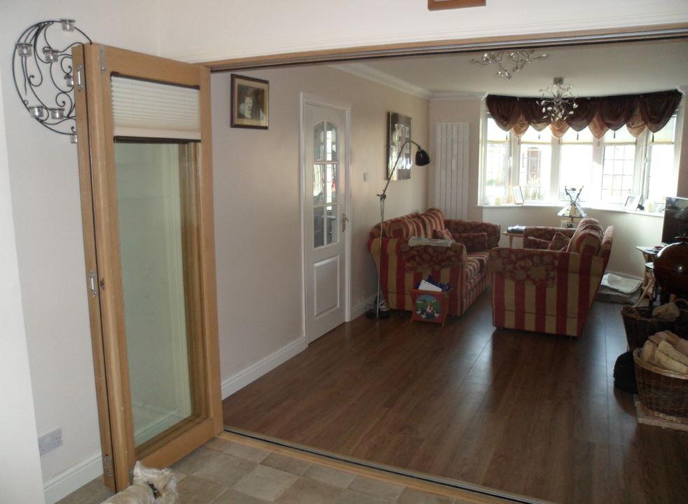 Open side view of Finesse 3M Internal Bifold Doors