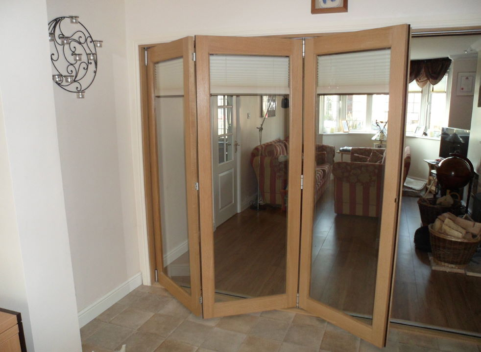 Partially open Finesse 3M Internal Bifold Doors