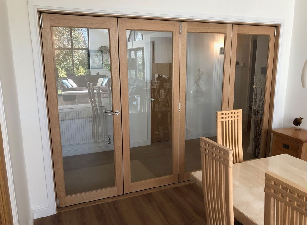 Closed Finesse 3M Internal Bifold doors