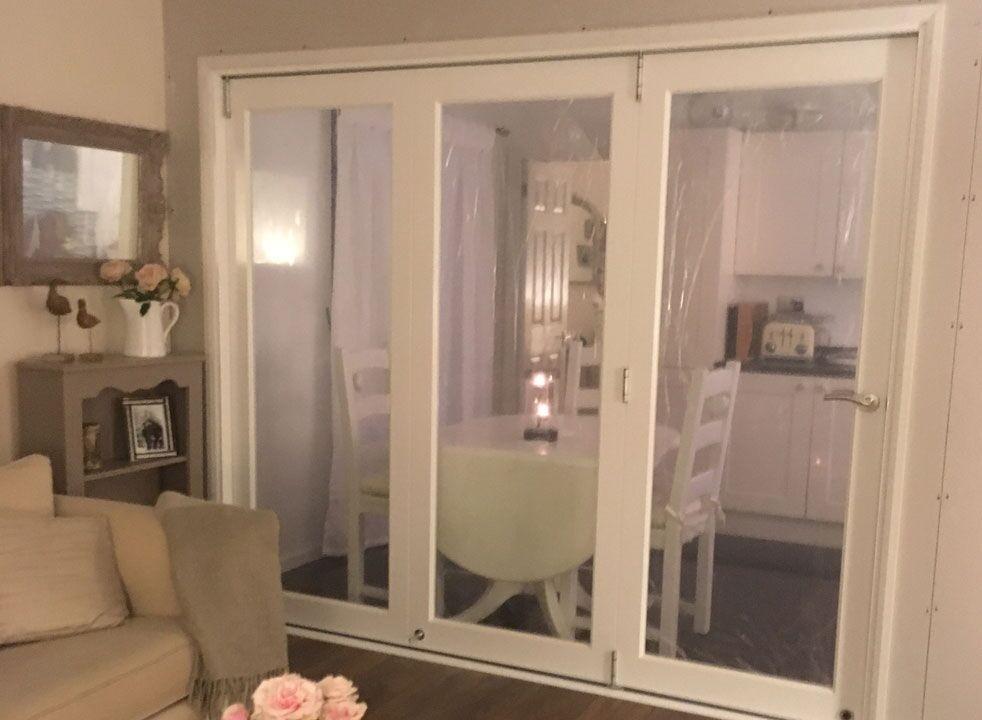 Closed Finesse white internal bifold door set