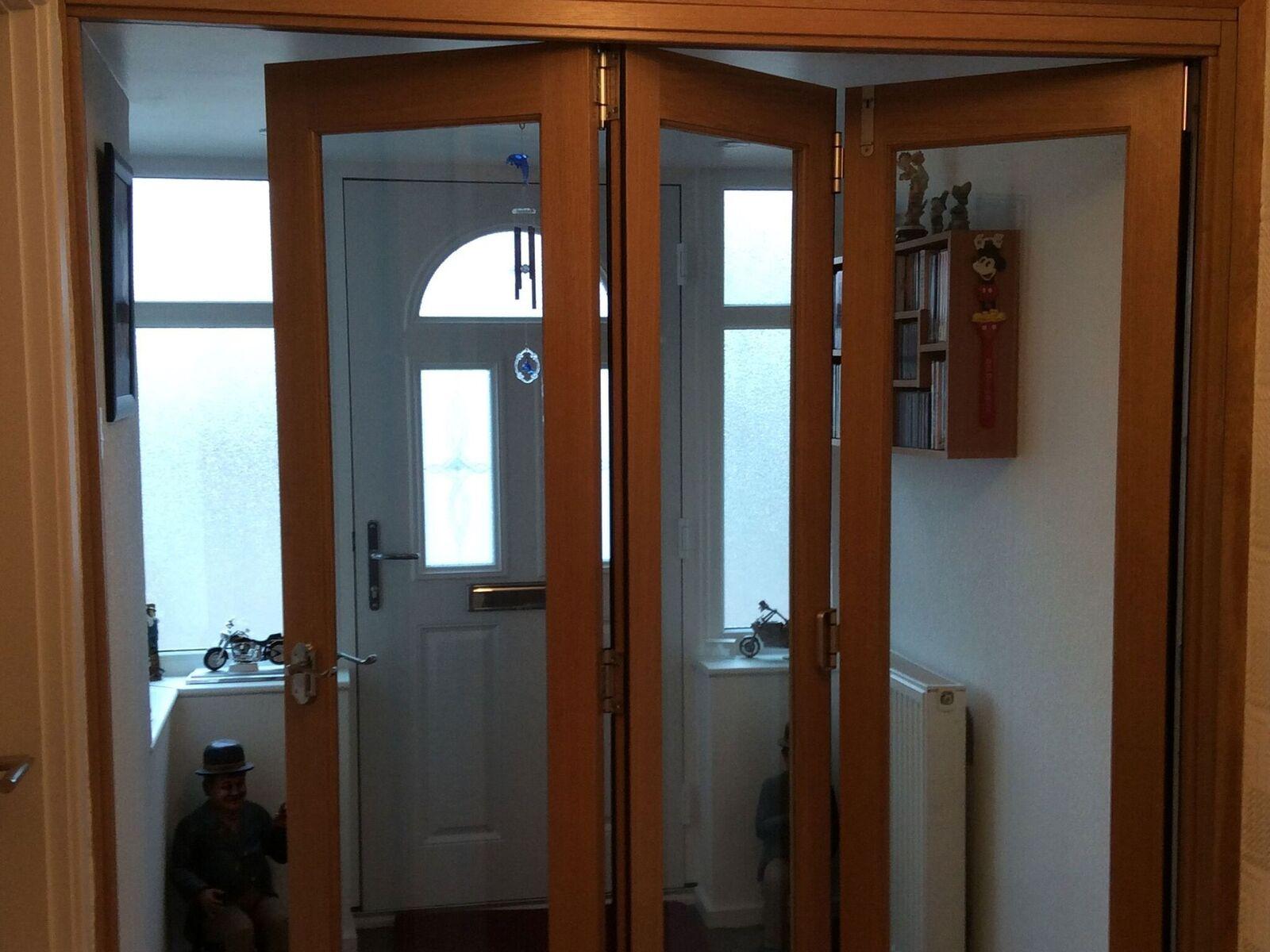 Partially Open Finesse 1.8M Internal Bifold Door