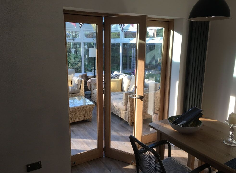 Access door open - Inspire 1.8M internal bifold doors