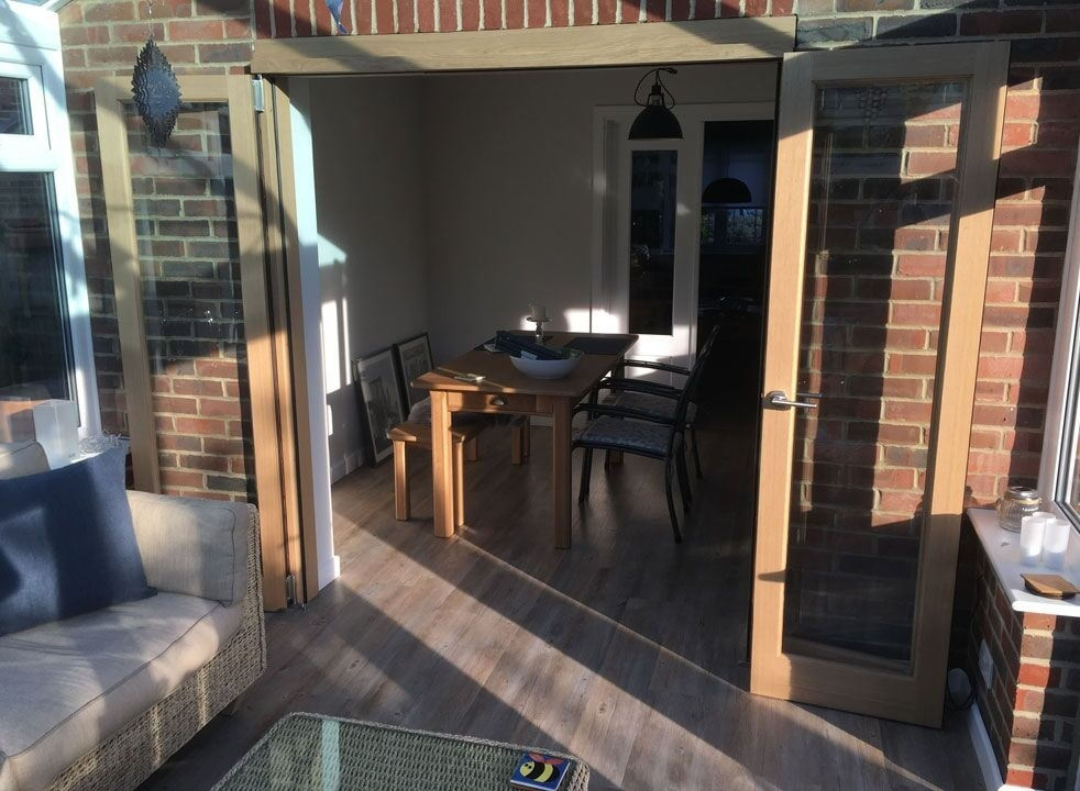 Open from the conservatories - Inspire 1.8M internal bifold doors