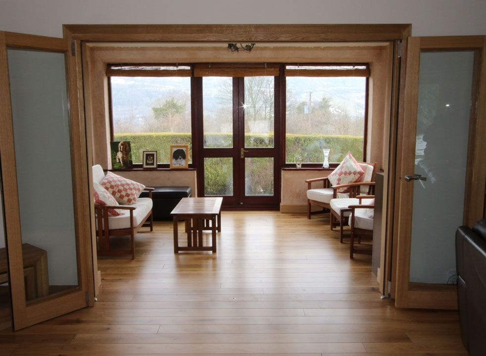 Inspire 2.4M Internal Bifold doors open