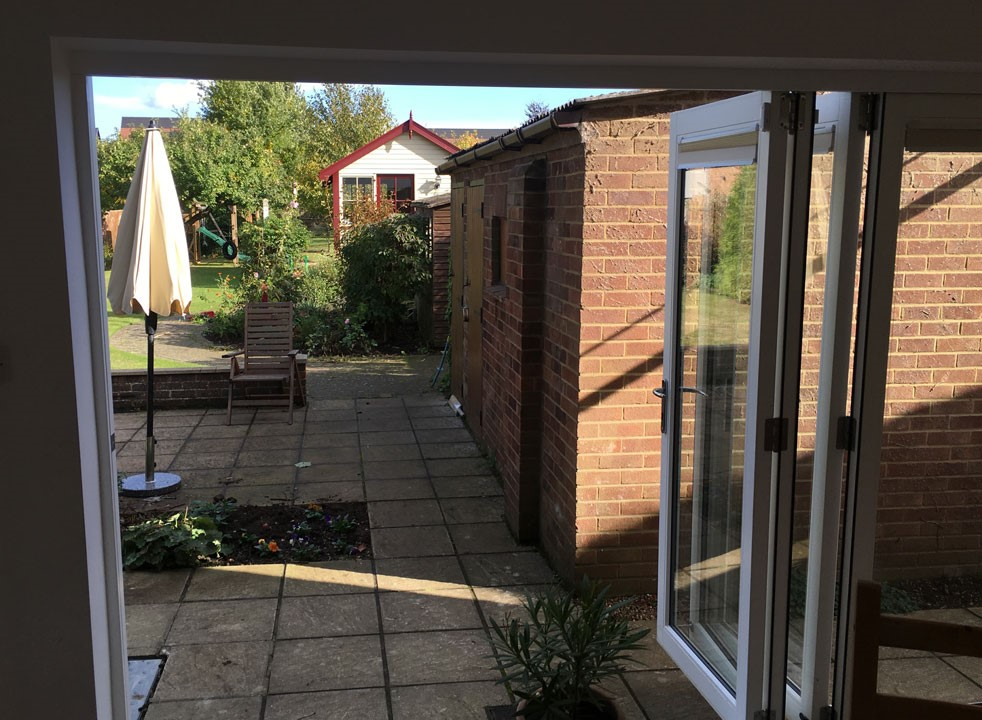 Inside open - 3.6M Master External Bifold Doors