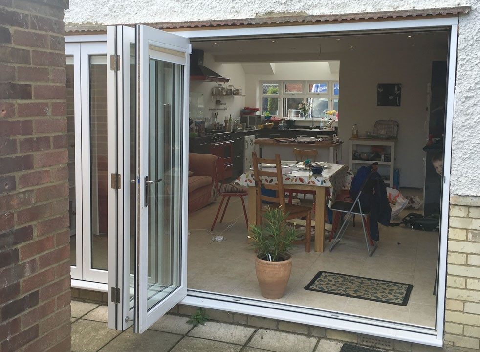 Outside open - 3.6M Master External Bifold Doors