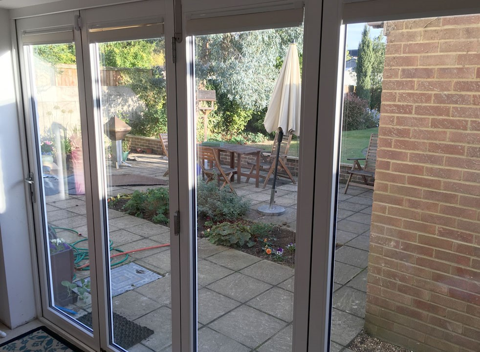 Inside closed - 3.6M Master External Bifold Doors