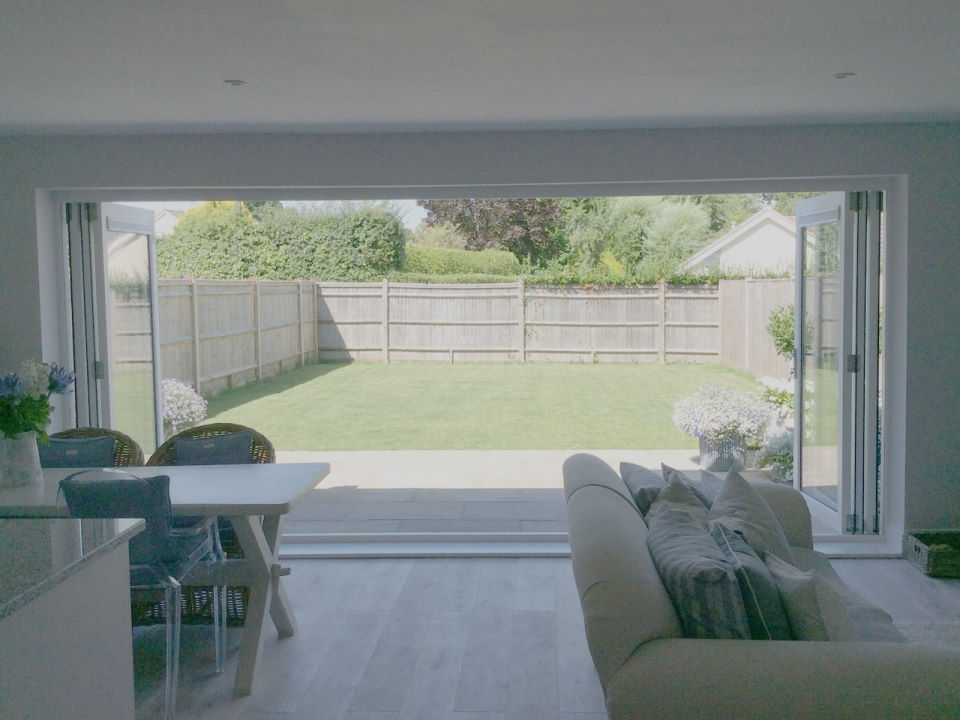 Open inside view Master Timber 4.8M Bifold Doors