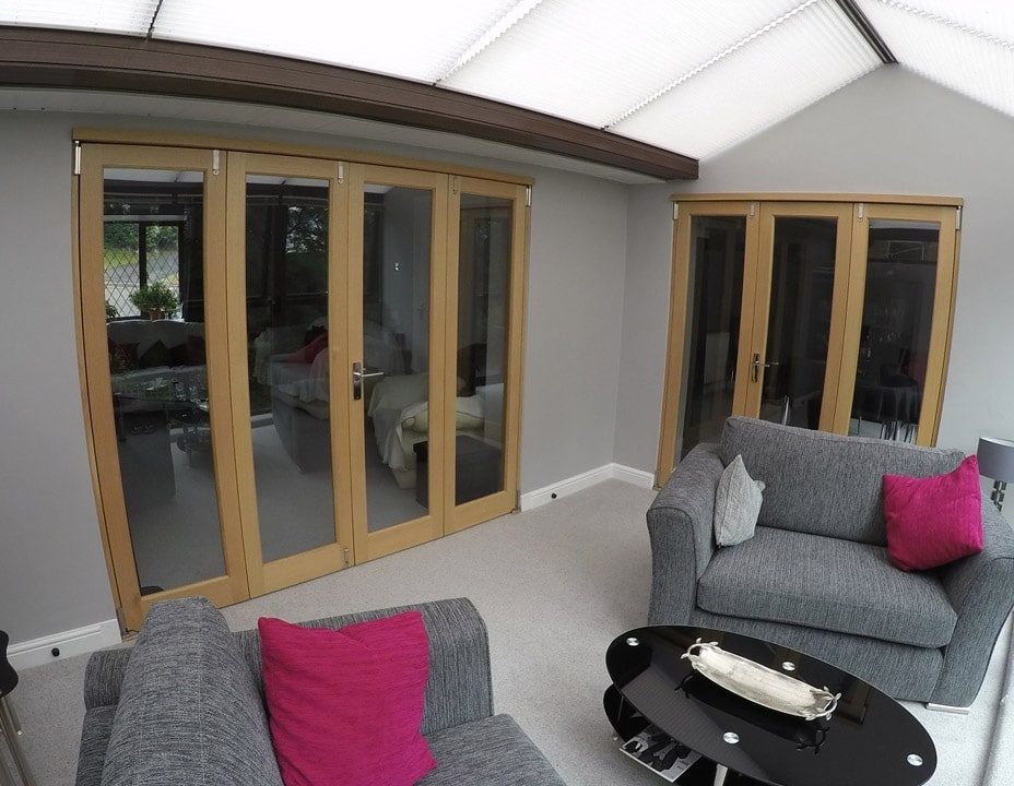Closed 2.4M & 1.8M Inspire bifold doors