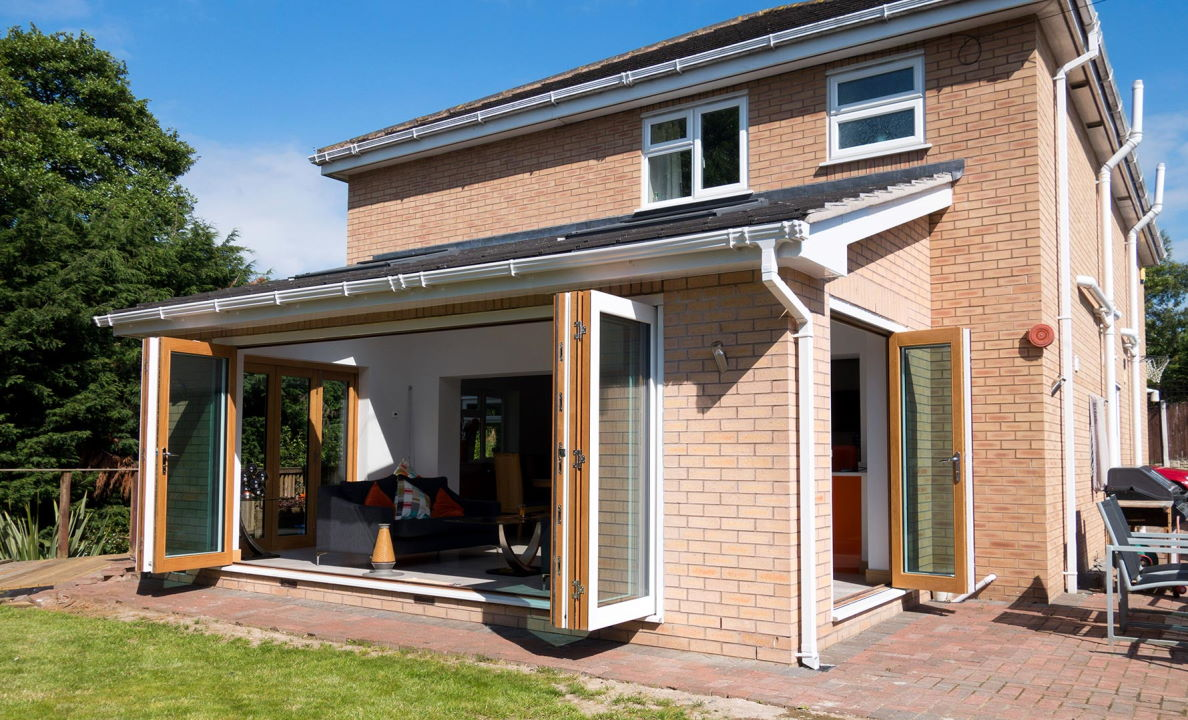 Open White 16ft Ultra Bi-fold Doors