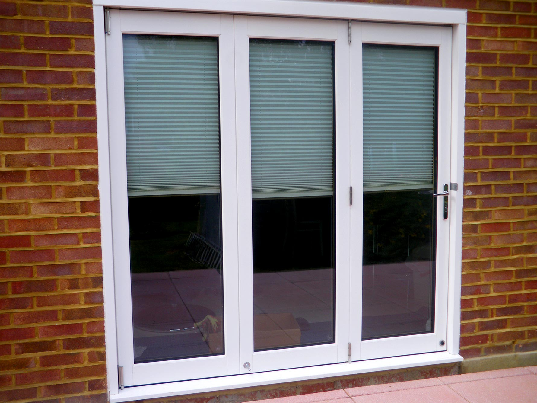 Closed White Ultra 7ft Bifold Door