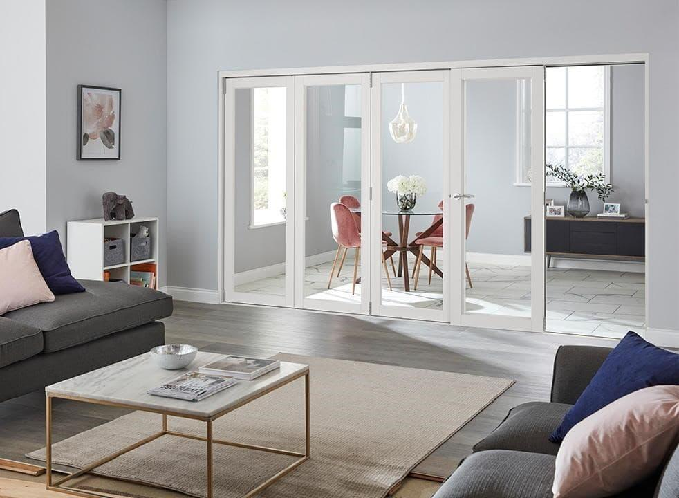 white internal bifold door