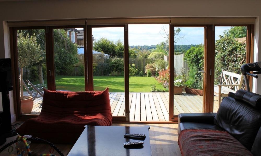 bifold door garden