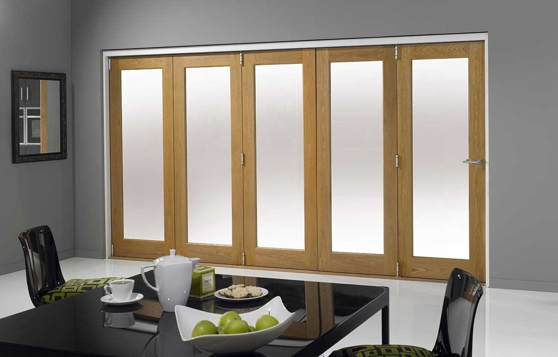 closed internal bifold door