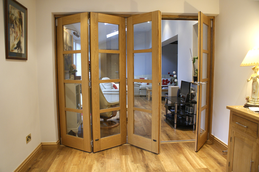 Partially Open Edge 10ft Folding Room Divider Door