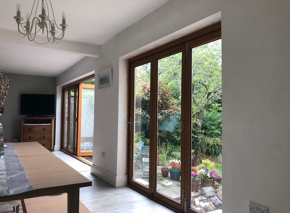 2 Sets of Elite 2.1M External Timber Bifold Doors