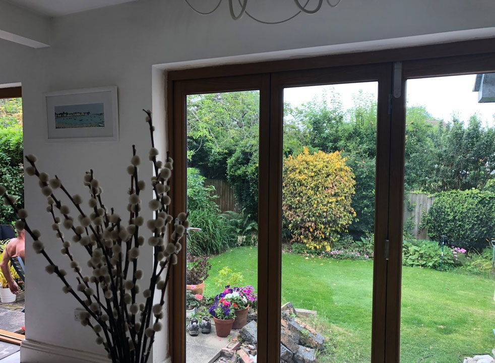 Closed Elite 2.1M Timber Bifold Doors