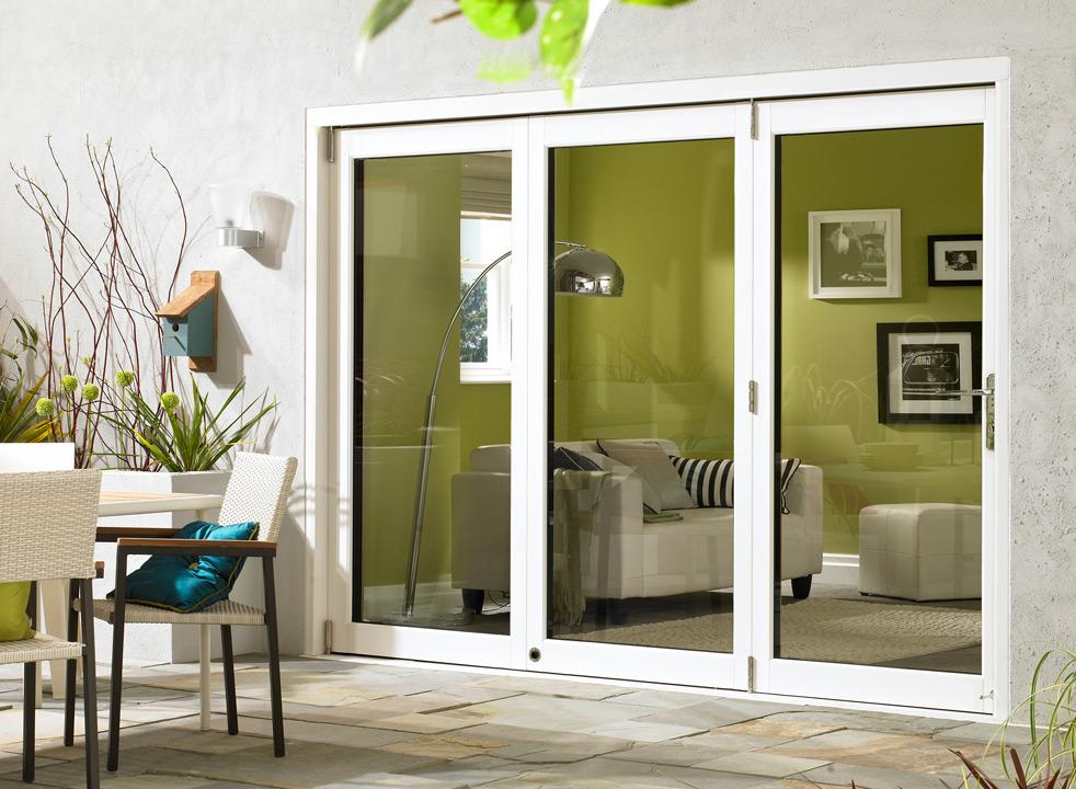 White Ultra 4 Doors 12ft Bifold Doors