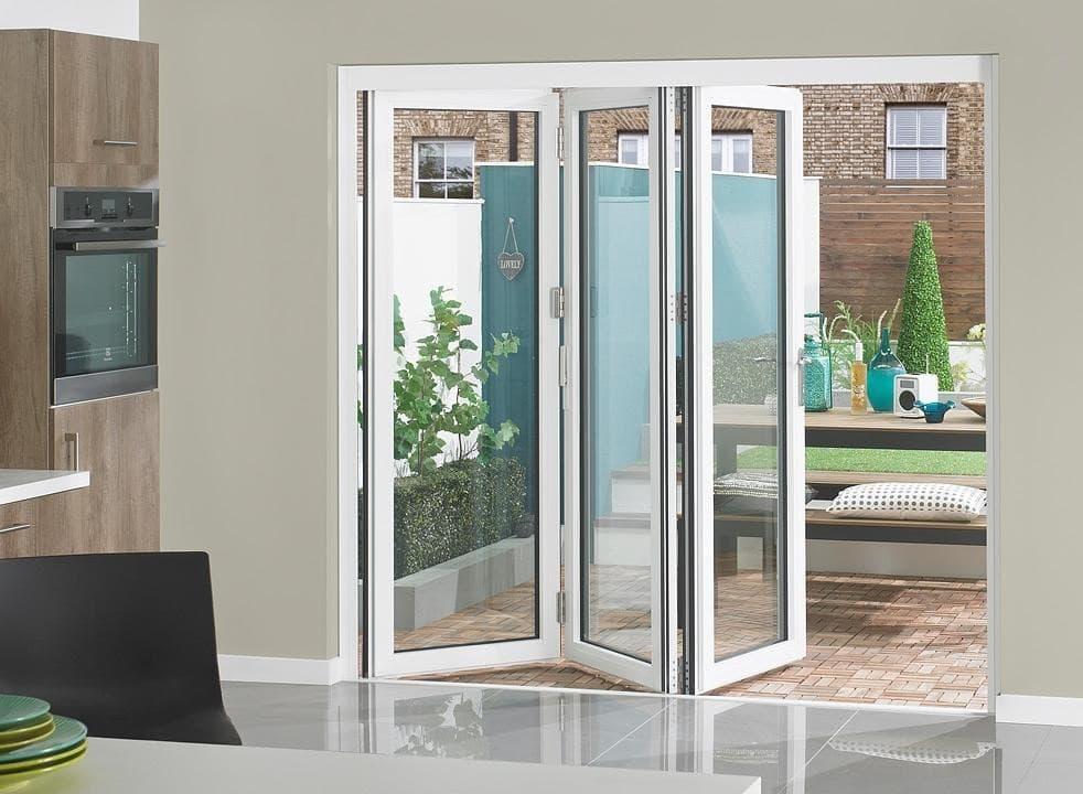external white bifold door