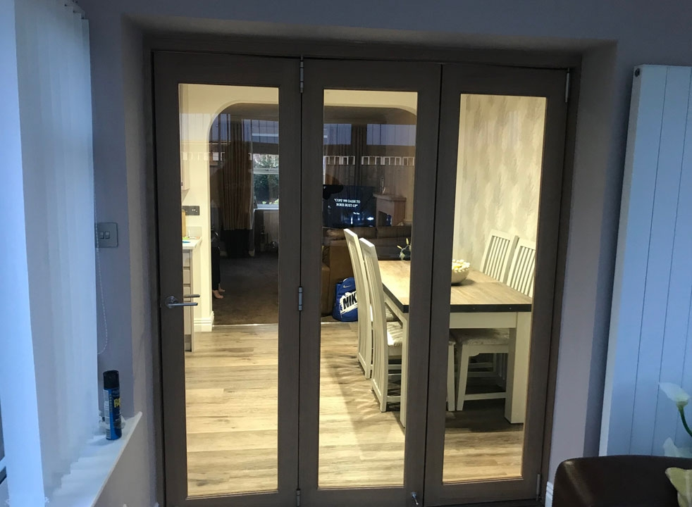 Closed view Finesse 1.8M Internal Bifold doors