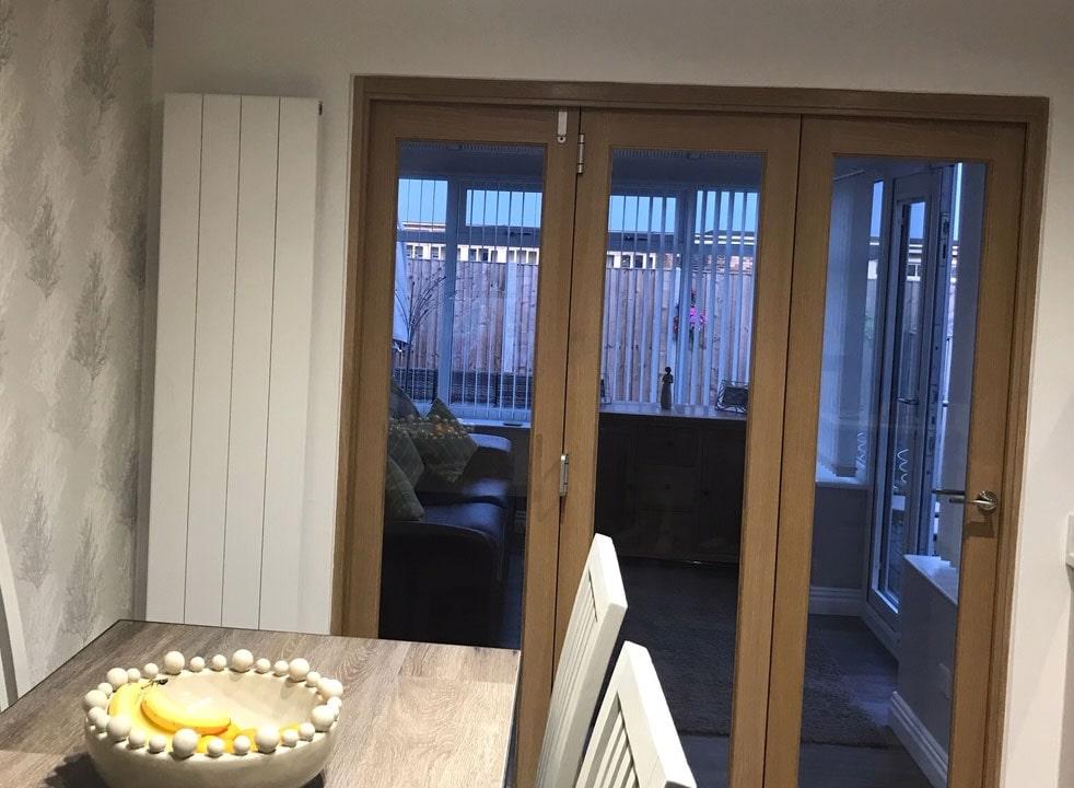 Closed Finesse 1.8M Internal Bifold doors