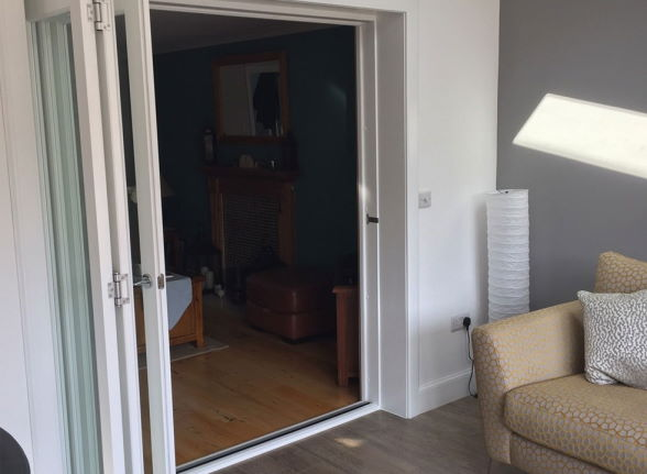 Open - Finesse White 1.8M Internal bifold doors
