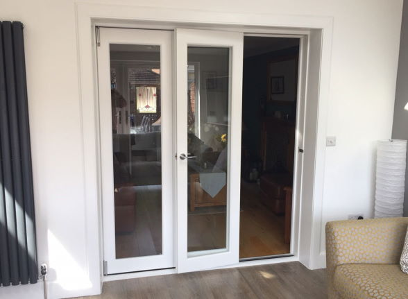 Access door Open - Finesse White 1.8M Internal bifold doors