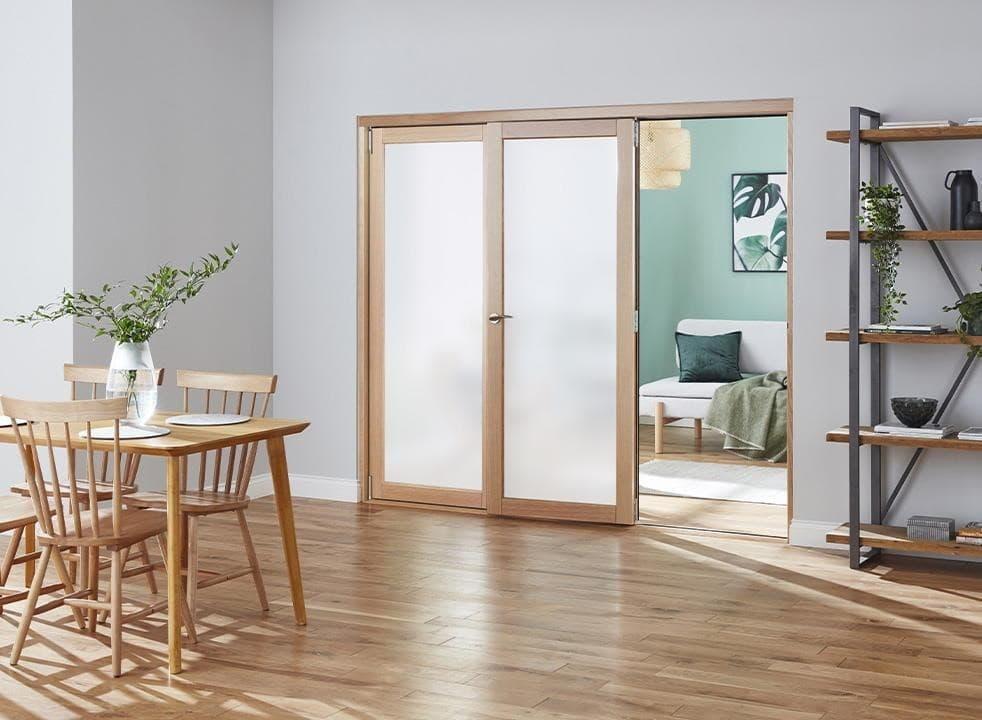 glazed internal bifold door
