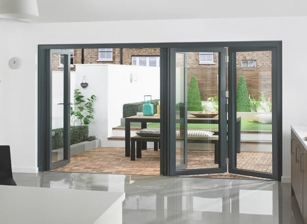 grey bifold door