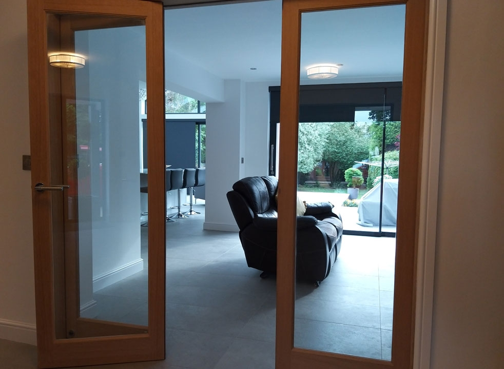 Access door open Inspire 2.1M Internal Bifold doors