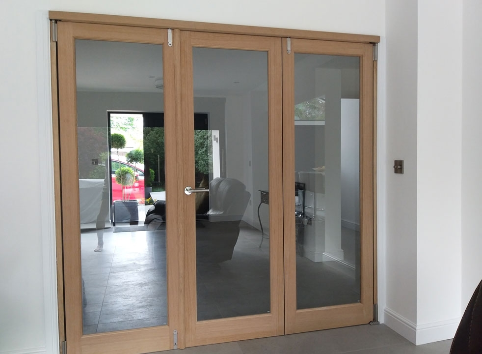 Closed view of Inspire 2.1M Internal Bifold doors