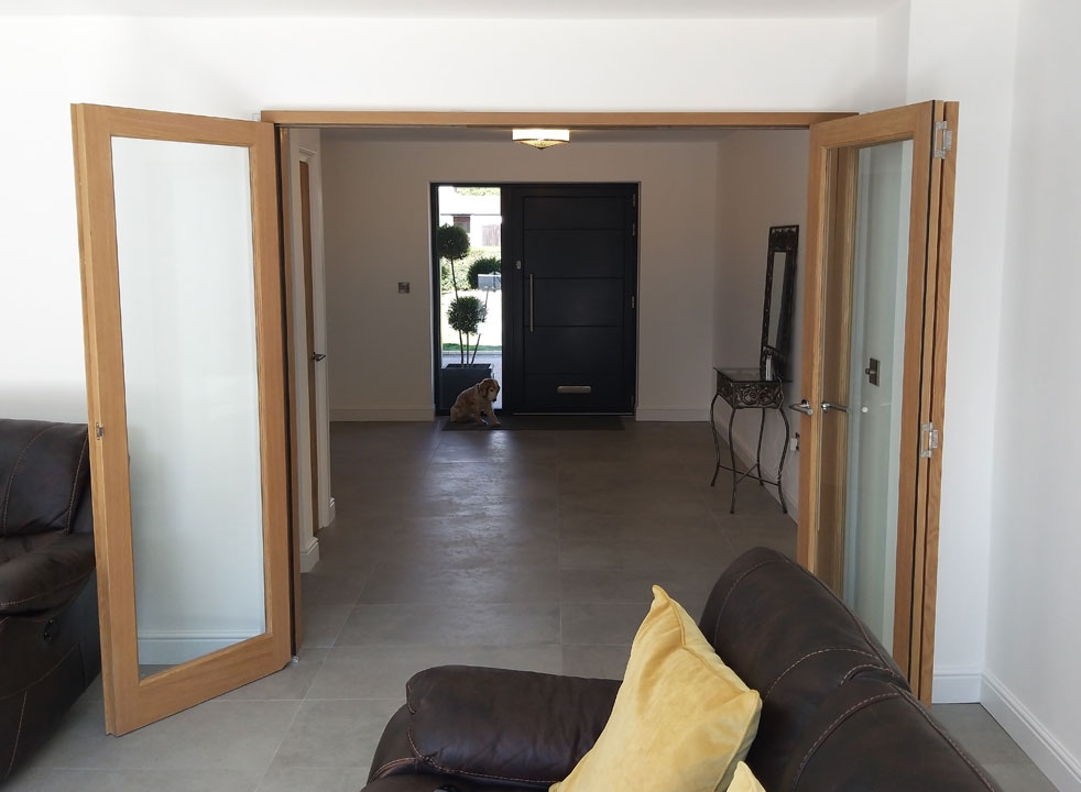 Wide open Inspire 2.1M Internal Bifold doors