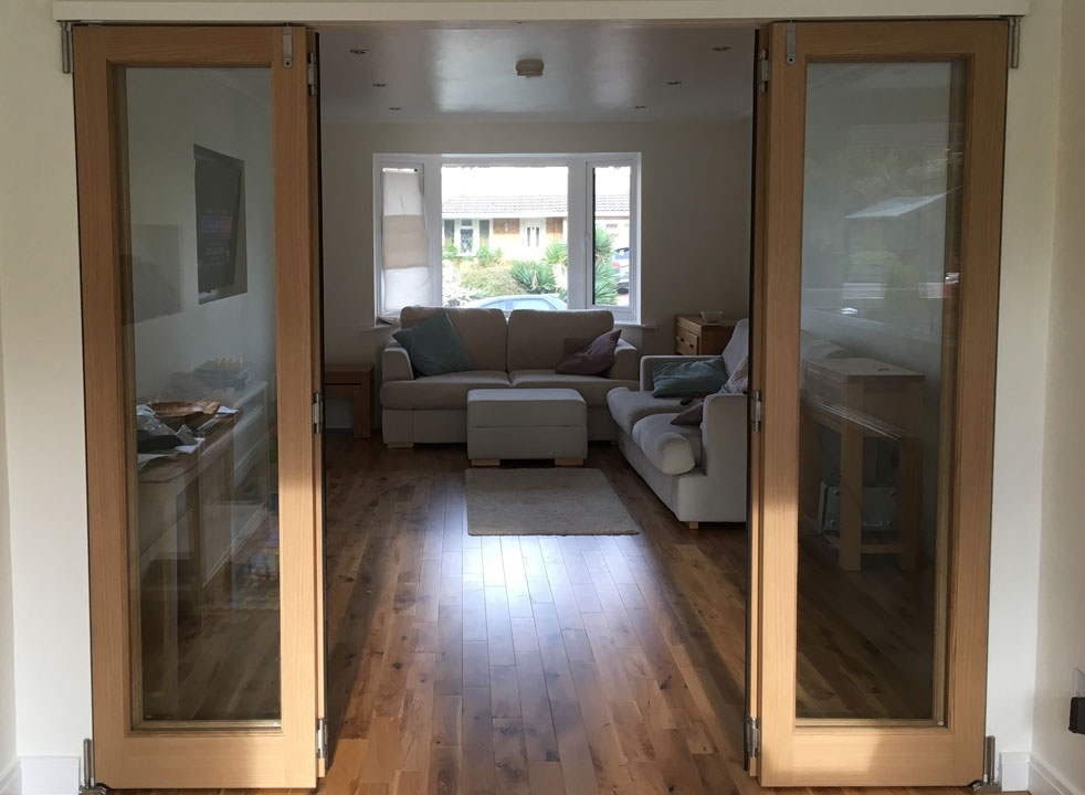 Centre doors open - 2.4M Inspire internal bifold doors
