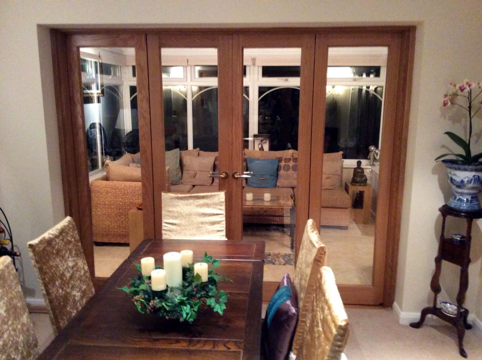 Closed Inspire 8ft Bifold replace old patio doors