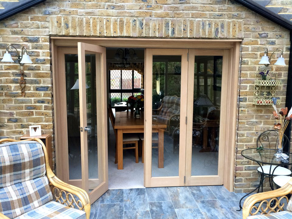 Access Door Open on an 8ft Inspire Bifold Door