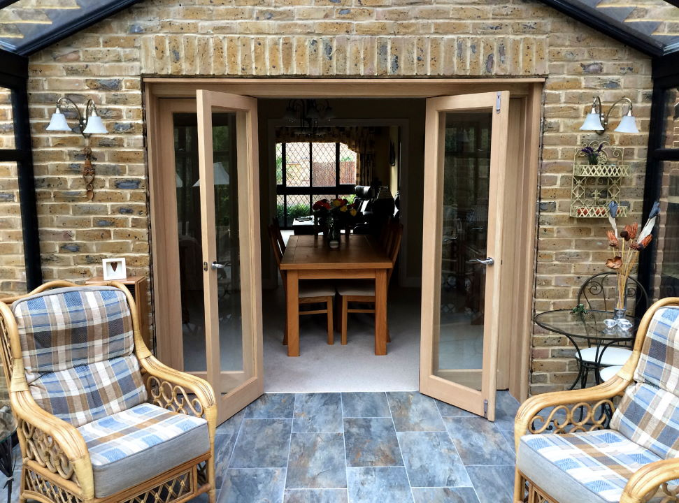 Partially Open Inspire 8ft Bifold Doors