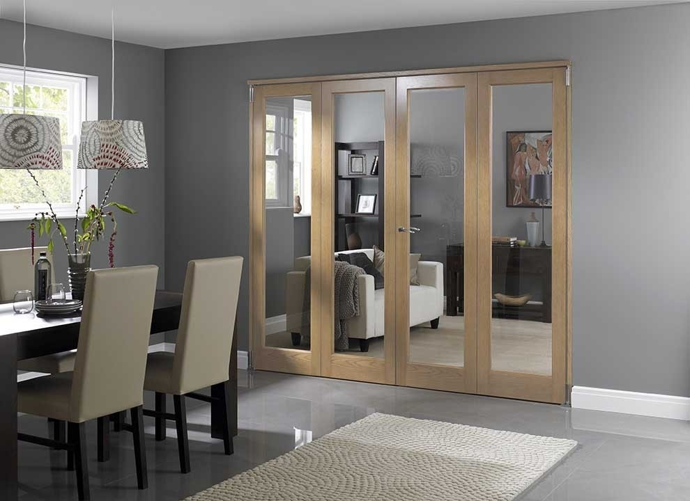 wooden internal bifold door