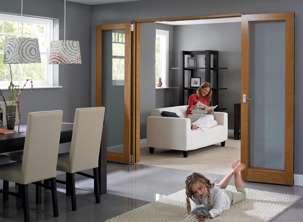Open 6ft Inspire Internal Flat Folding Door