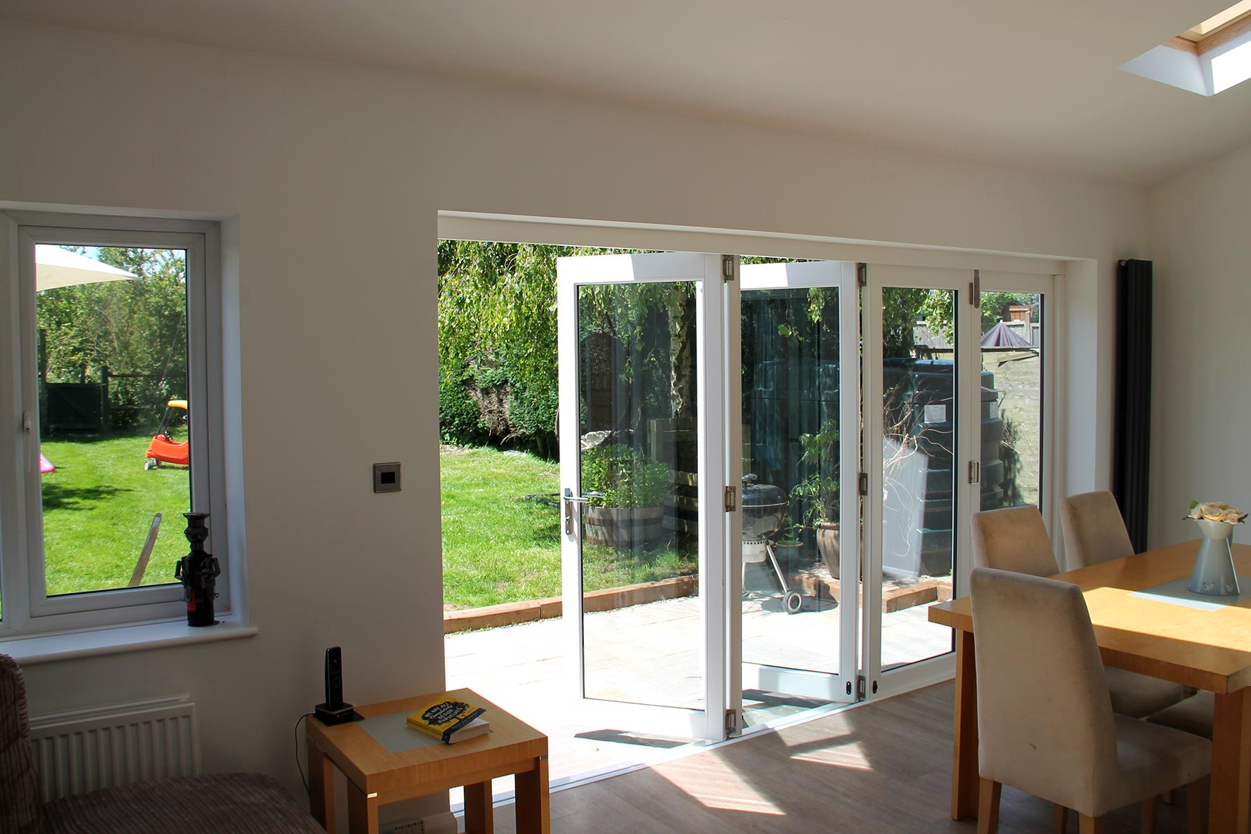 Inside open 3590MM Master Bifold Doors