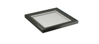 1m x 1m black rooflight